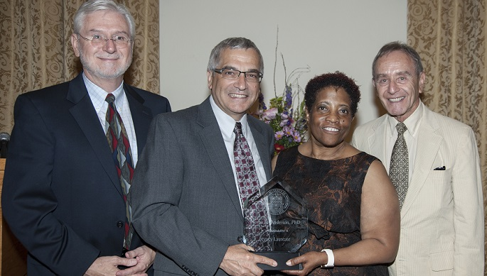 Alum Noma Anderson With Legacy Laureate Award, SHRS Dean and CSD Chair