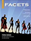FACETS cover with superheroes