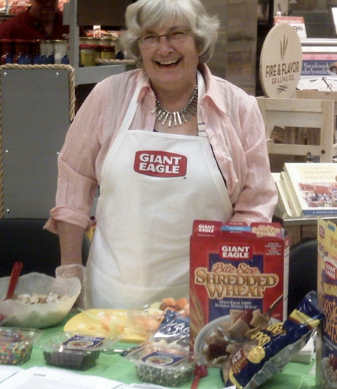 Judy Dodd in grocery store
