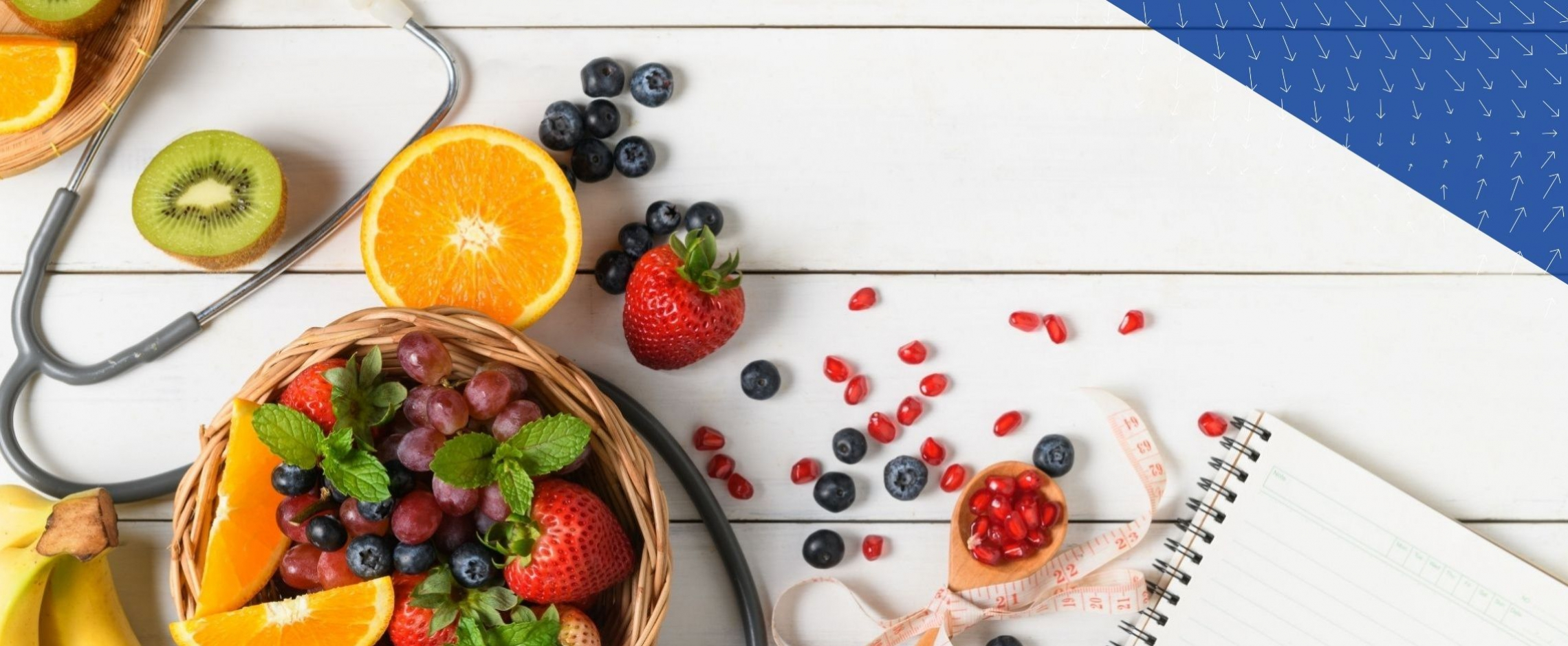 fruit salad and stethoscope
