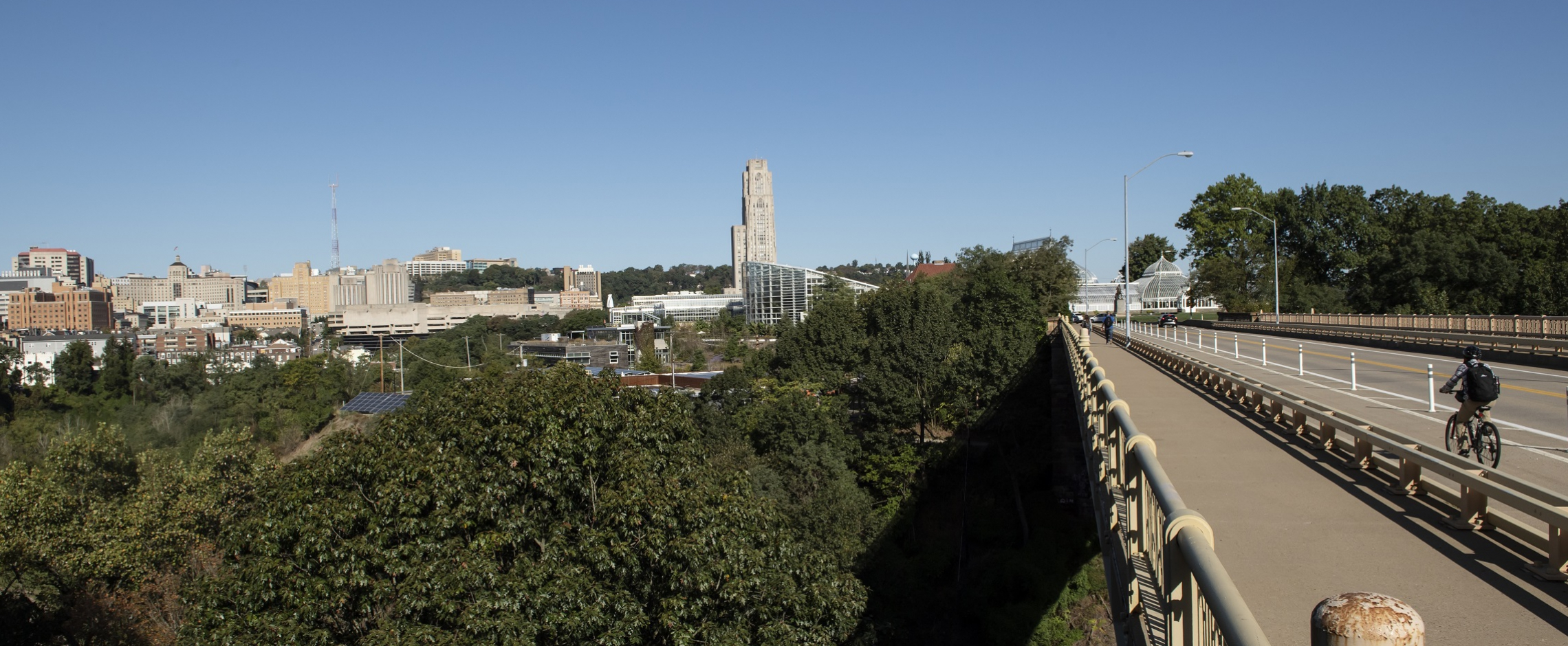Bridge to Campus with Cathedral of Learning in background