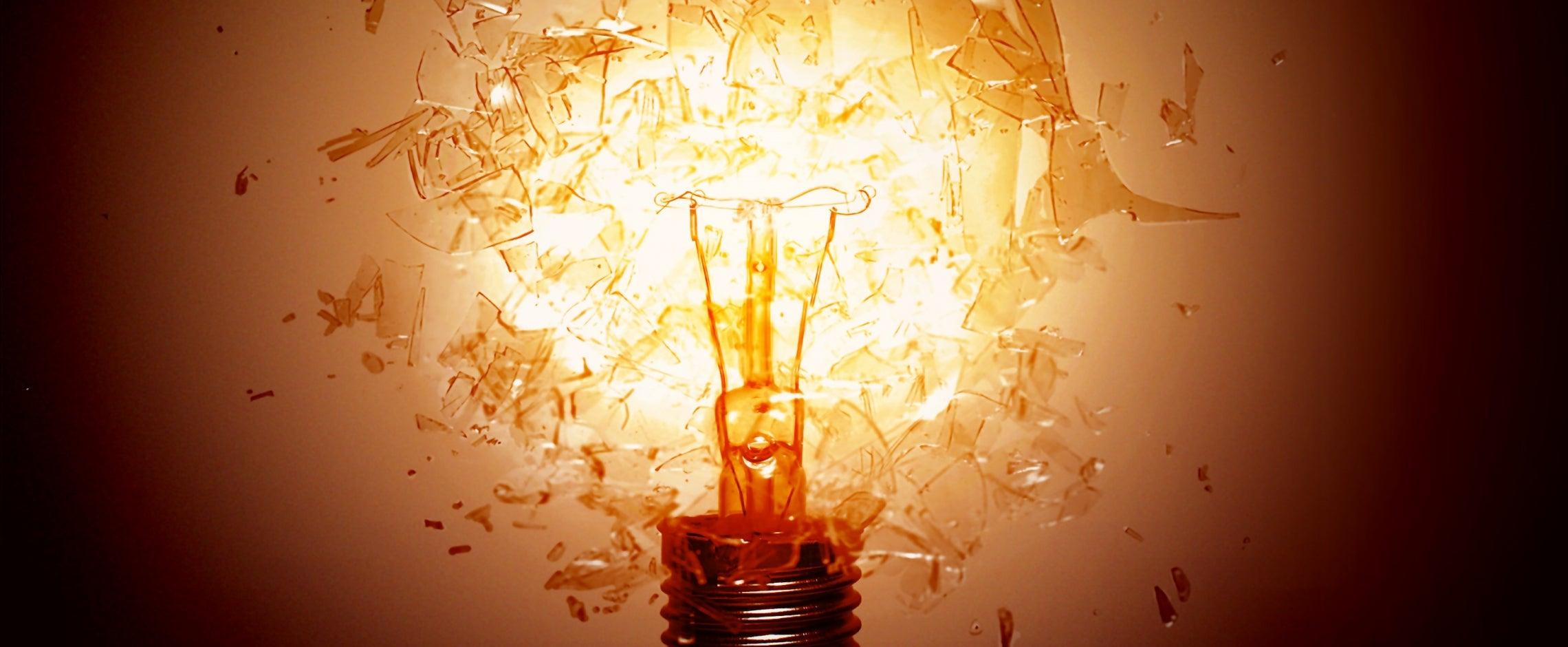 light bulb shattering