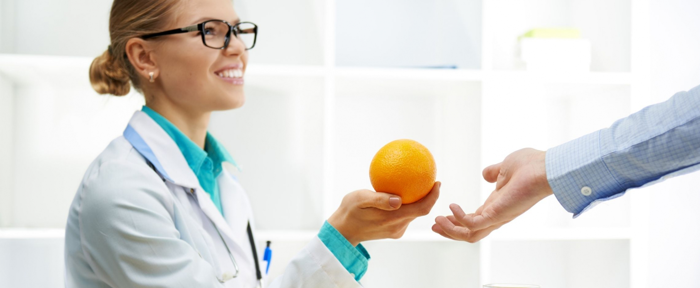 Dietitian working with person