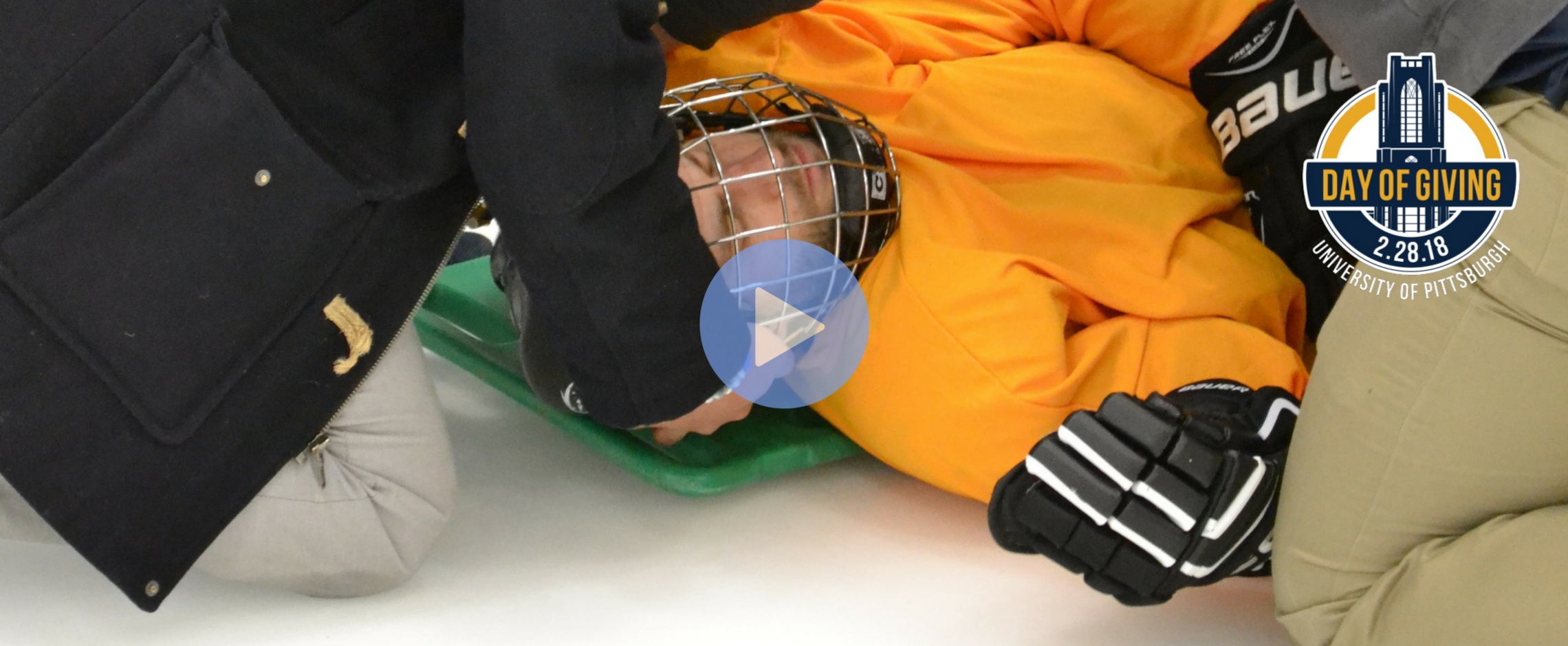 Spine Boarding on Ice