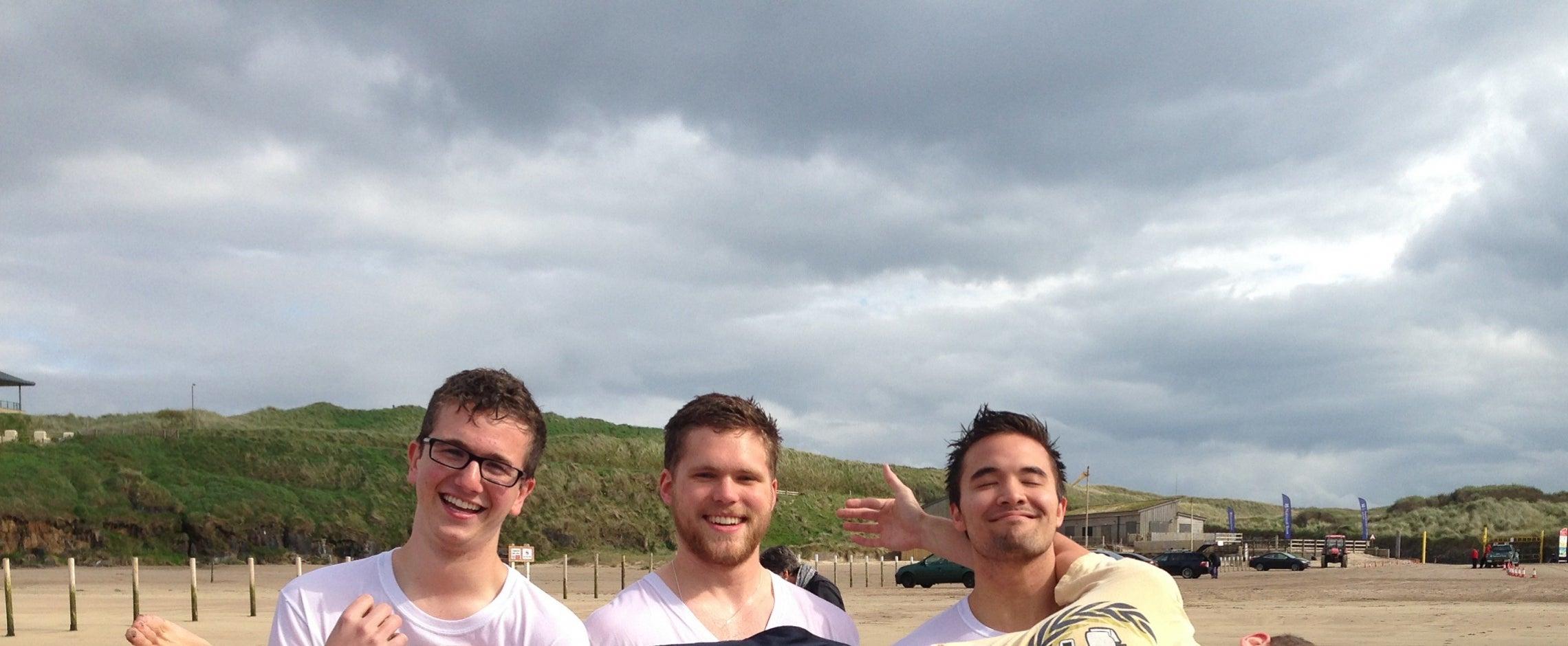 Students on Beach in Ireland