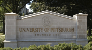Pitt Sign on Campus