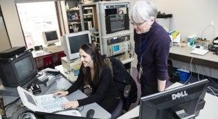 Dr. Sheila Pratt with Student