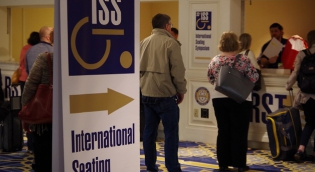 Conference Registration of peopel in line at ISS