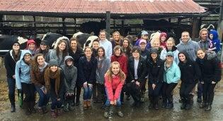 Nutrition Students on Farm Field Trip