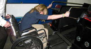 OT STudent using wheelchair