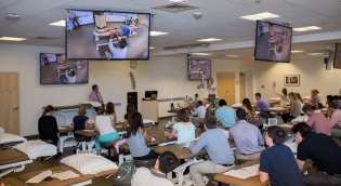 PT students in classroom