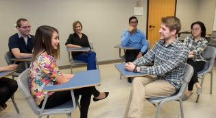 Counseling students in class