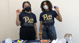 Students at Wellness Pavilion