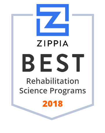 Zippia Rehab Science Rankings Badge