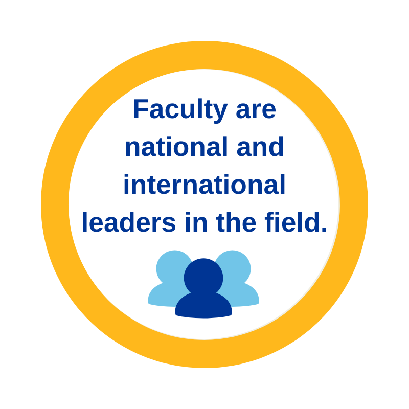 Faculty are national and international leaders in the field.