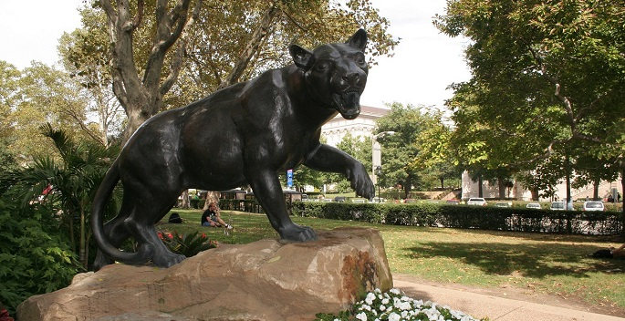Pitt Panther Statue on Campus