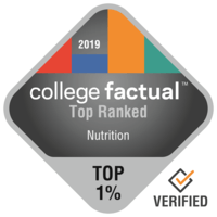 College factual top Ranked program badge for Nutrition